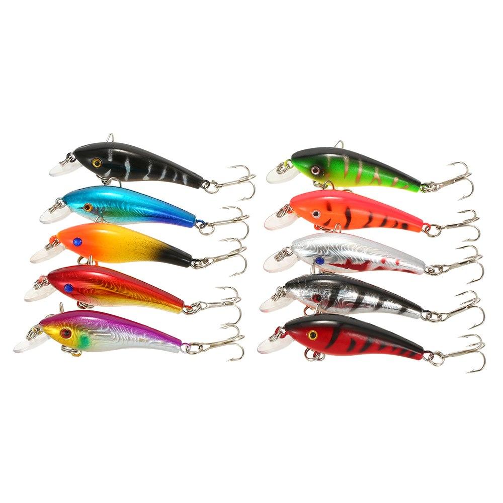 65 pièces glace poisson leurre mixte pêche leurre Set Kit hiver méné leurres manivelle artificiel dur appât achigan carpe matériel de pêche - 5