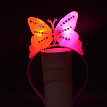 Women Girl Light Blinking LED Butterfly Headband Fancy Dress Up Costume Children Kids Adult Decor