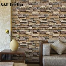 1pc Wall Paper Brick Pattern Retro 3D Stone Wallpapers Roll Bar Restaurant Coffee Shop Bedroom Living Room Backdrop Accessories