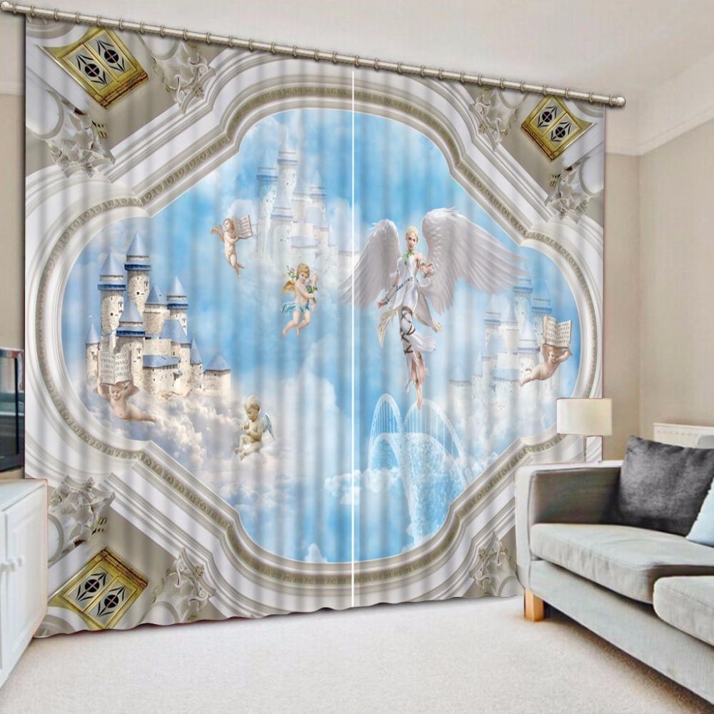 Window Curtain Blackout Children Room Curtains Underwater: European Luxury Window Curtain 3D Curtains For Living Room