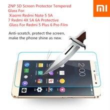 Xiaomi5D Screen Protector Tempered Glass For Xiaomi Redmi Note 5 5A 7 Redmi 4X 5A6A Protective Glass For Redmi 5 Plus 6 Pro Film
