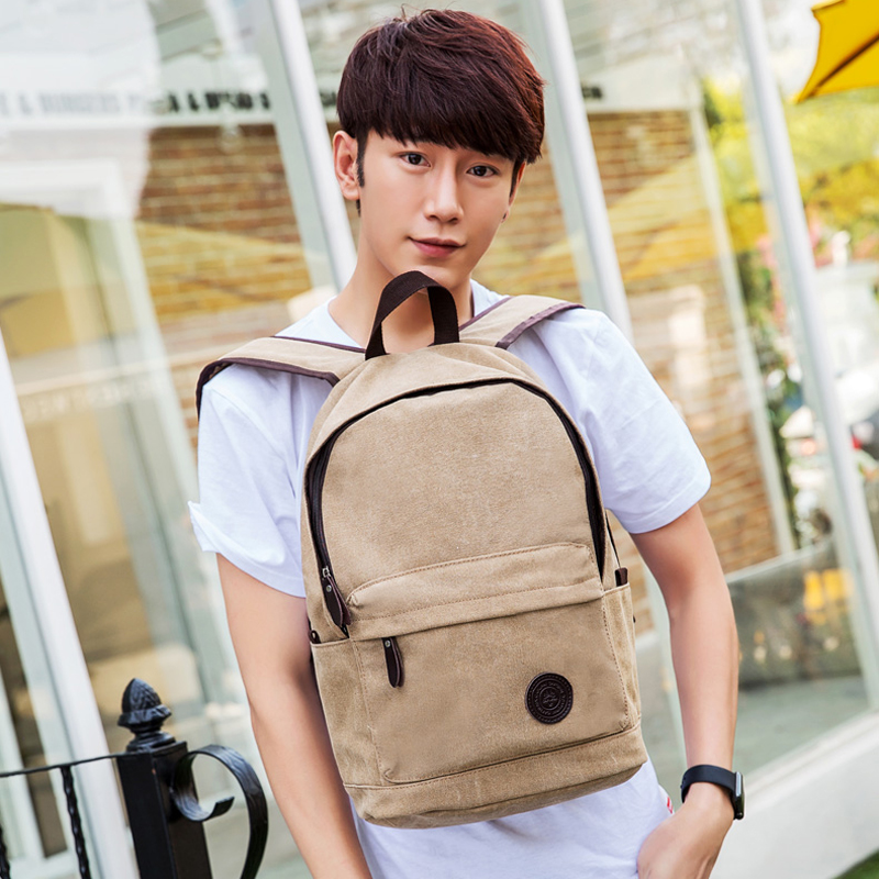Fashion Preppy Style Canvas students School backpack Large Capacity Korean Style men's travel bags  leisure Shoulder bag primary school students school bag 3 6 candy color preppy style backpack