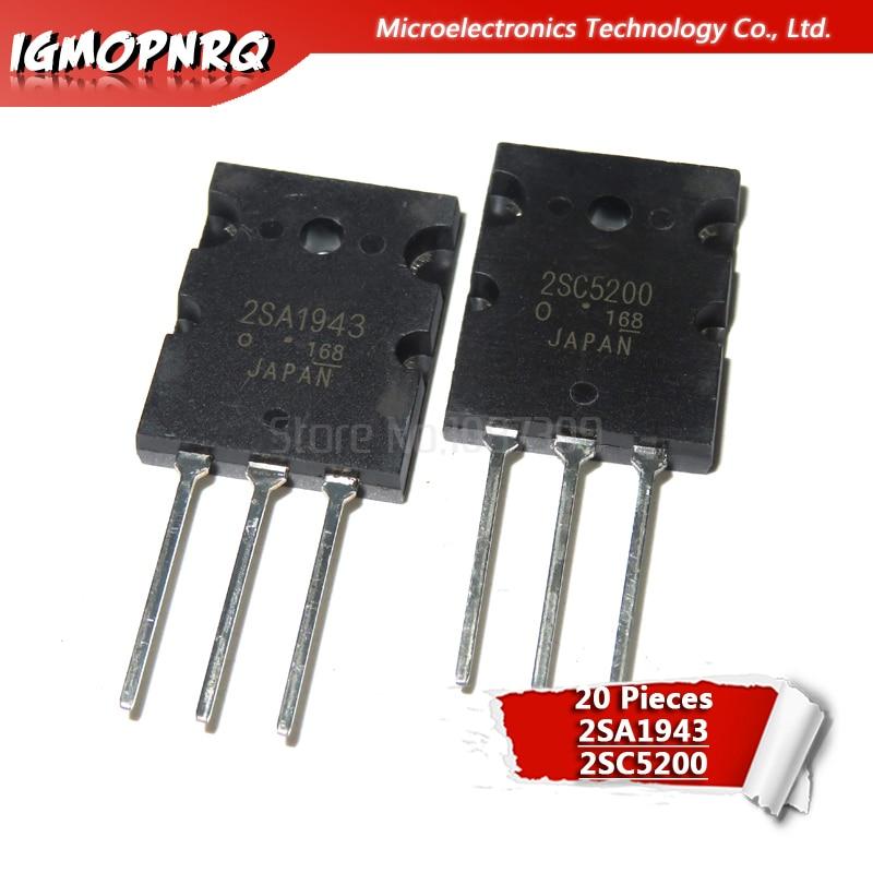20pcs 2SC5200 2SA1943 10PCS A1943+10PCS C5200 New Original