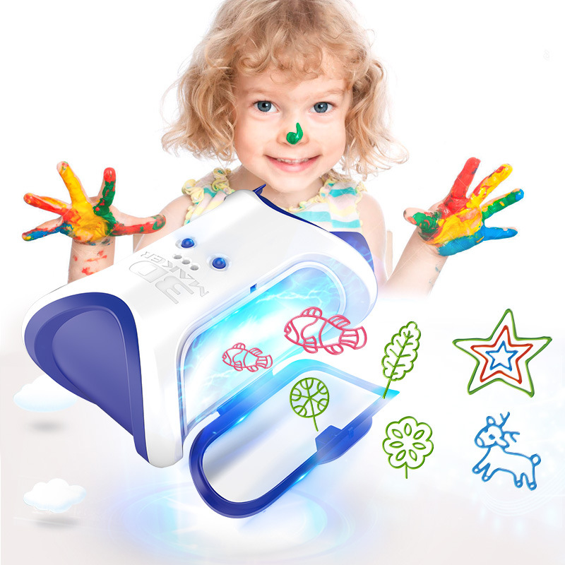 New Arrival DIY 3D Magic Machine Printer Enlighten Painting Draw Kids Children Developmental Toy Gift Operation Ability Creative