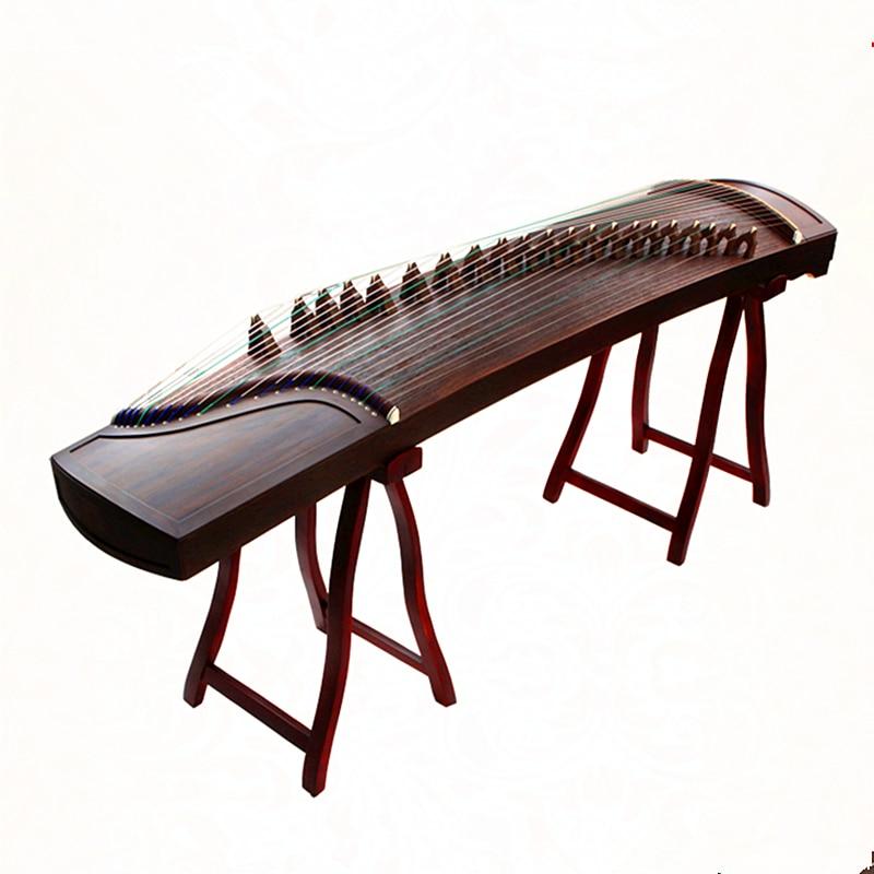 Haute qualité chine Guzheng musique ébène bois blanc embellir professionnel portable choisir cithare 21 cordes avec accessoires complets