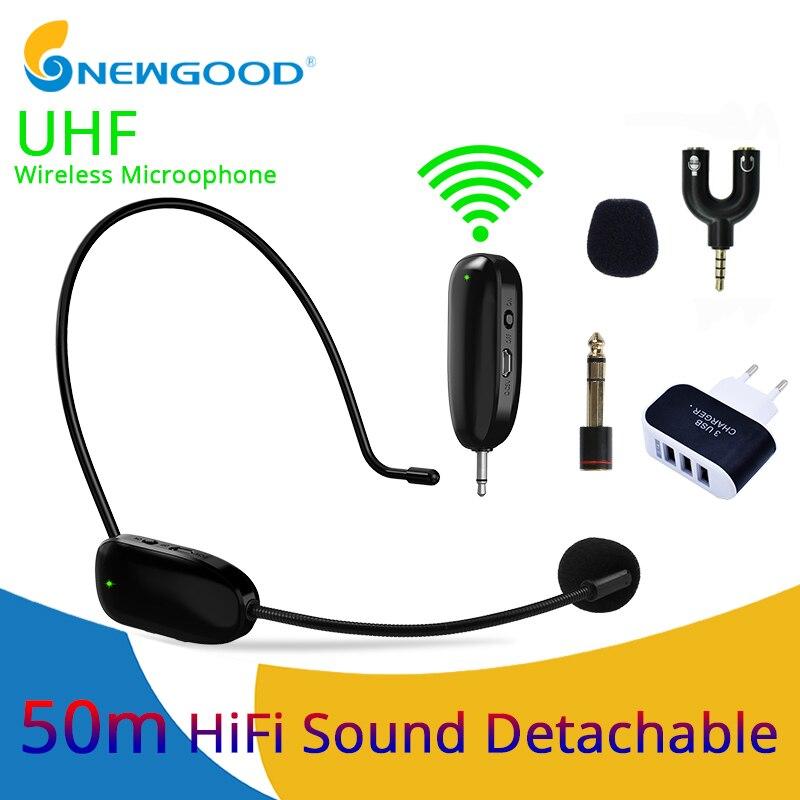 UHF microfone Sem Fio Microfone Para Amplificador De Voz Do Computador Microfone Sem Fio Profissional Microfone Sem Fio Microfones Auriculares