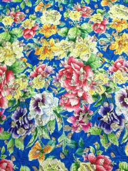 Blue Free Shipping! African Water Soluble lace fabric with flower design Pretty colorful prints guipure lace cloth for dress