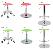 Hairdressing salon lift stool Forest logging leisure dining chair retail and wholesale free shipping red green white color