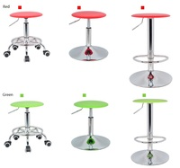 Hairdressing Salon Lift Stool Forest Logging Leisure Dining Chair Retail And Wholesale Free Shipping Red Green