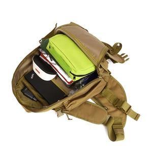 Image 5 - Men 1000D Nylon Sling Chest Bag Water Bottle Day Back Pack Cross Body Messenger Shoulder Packet Military Travel Riding New