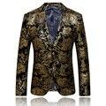 2017 nueva llegada de la manera original de la marca de oro hombres de la chaqueta de alta calidad traje slim fit hombres blazer masculino traje homme/XF40