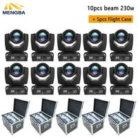10pcs Beam 230W 7R Moving Head Light with 5pcs flightcase Disco Lights for DJ Club Nightclub Party dj light Wedding light