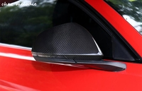 Real Carbon Fiber Car outside exterior rearview Mirror caps cover For Ford Mustang 2015 2018 with/without turn signal indicators