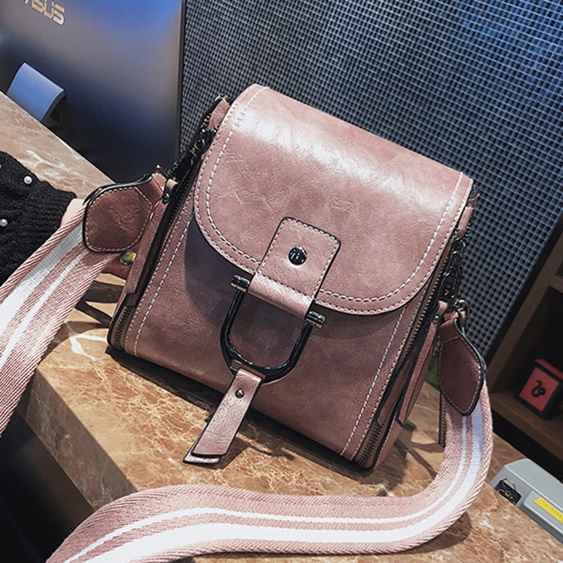 ETAILL 2018 New Fashion Pu Leather Solid Bag Women Wide Strap Handbags Hotsale Ladies Casual Shoulder Messenger Crossbody Bags yuanyu 2018 new hot free shipping crocodile women handbag shoulder strap bag leather shoulder bag ladies handbags