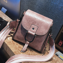 ETAILL 2018 New Fashion Pu Leather Solid Bag Women Wide Strap Handbags Hotsale Ladies Casual Shoulder