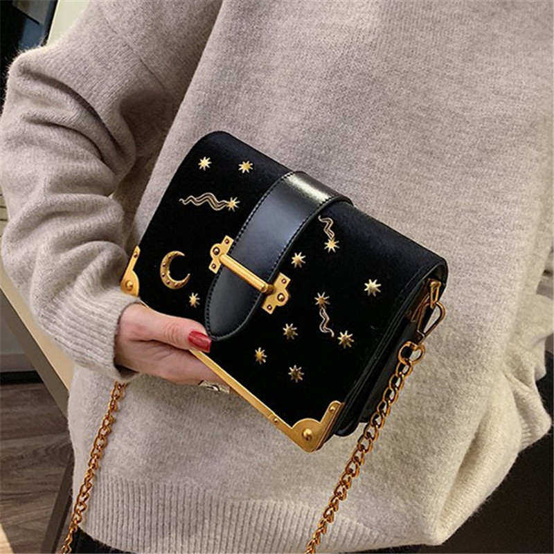 Crossbody Bags Cute Girl Crossbody Bag Cartoon Moon Star Handbag Shinny Glitter Star Crossbody Purse Wallet New Drop Shipping Luggage & Bags