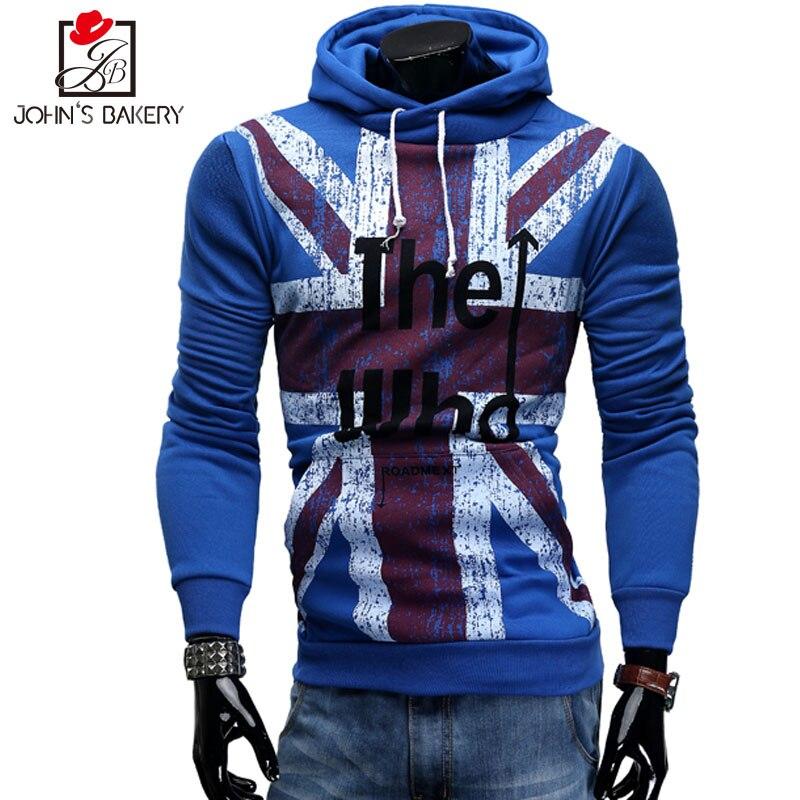 2018 New Fashion Hoodies Brand Men American Flag Pattern Sweatshirt Male Mens Sportswear Hoody Hip Hop Autumn Winter Hoodie Xxl Men's Clothing