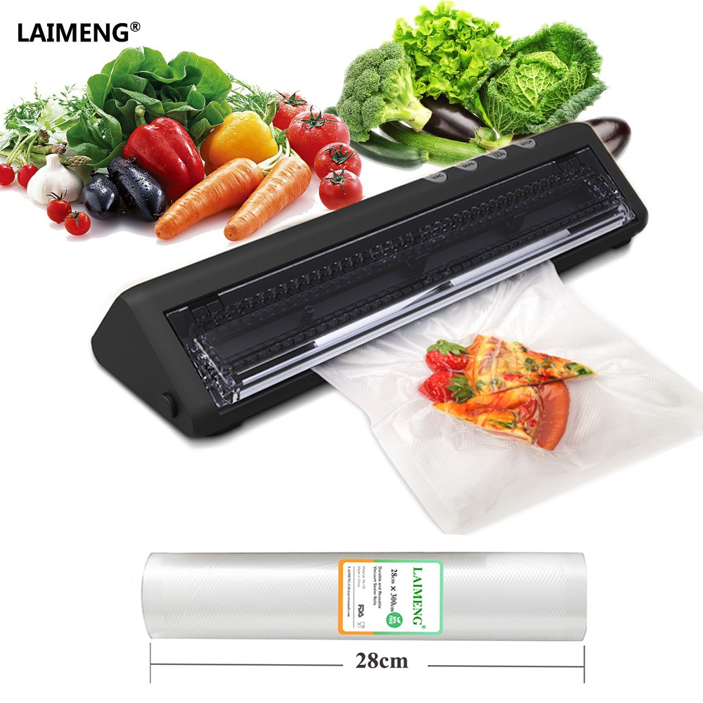 LAIMENG Vacuum Sealer Packaging Machine with 1 Roll 28CM Width Vacuum Sealing Bags for Vacuum Sealer For Food Free Shipping S179LAIMENG Vacuum Sealer Packaging Machine with 1 Roll 28CM Width Vacuum Sealing Bags for Vacuum Sealer For Food Free Shipping S179