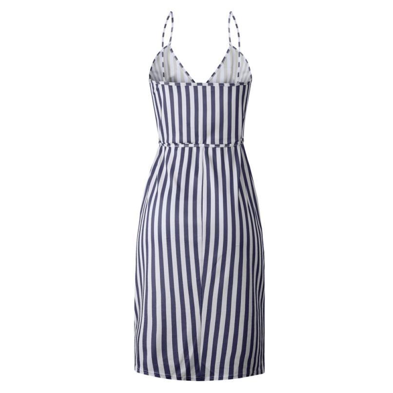HTB1dFk2zIyYBuNkSnfoq6AWgVXaW KANCOOLD dress Women Stripe Printing Sleeveless Off Shoulder Dress Evening Party Vest Empire Sashes dress women 2018AUG1