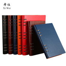 цена на A5  Business Office Loose Leaf 6 Hole Detachable Notebook Stationery Creative Thick Notepad Custom Logo journal  leather diary