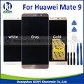 Negro/blanco/oro/gris pantalla lcd con pantalla táctil digitalizador asamblea para huawei mate 9 con herramientas