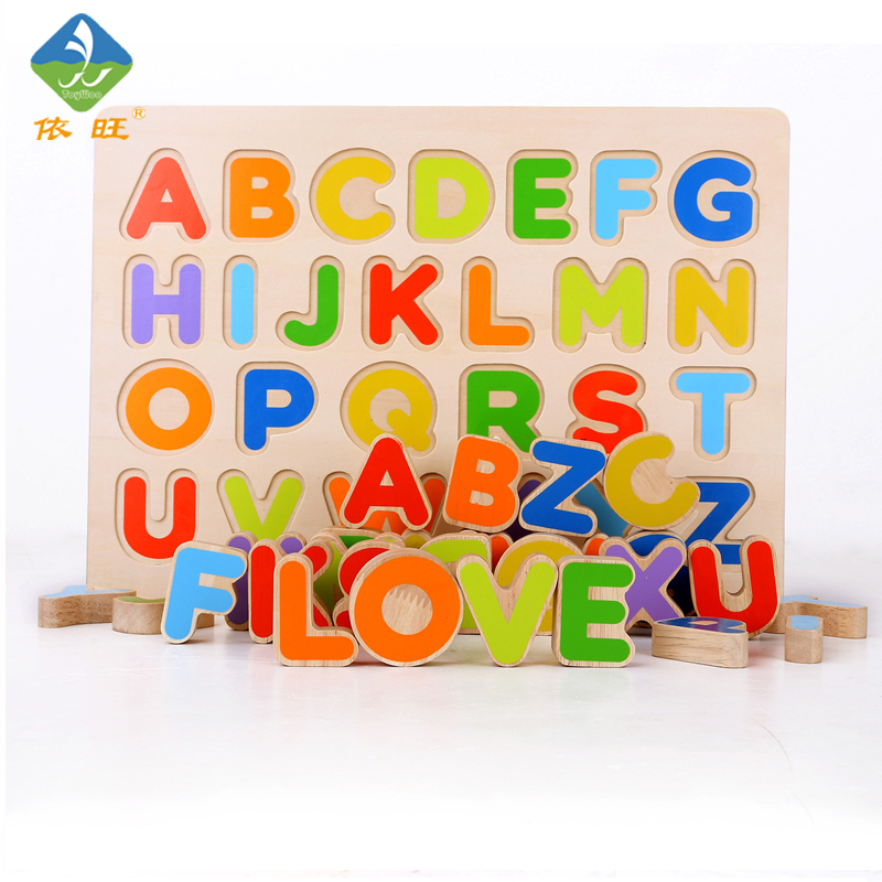 ToyWoo Kid Early Educational Toys Baby Hand Grasp Wooden Puzzle Toy Alphabet And Digit Learning Education Child Wood Jigsaw Toy 2017 montessori education baby wood knocking ball ladder pound and roll tower kids puzzle early educational wooden toys set mz23