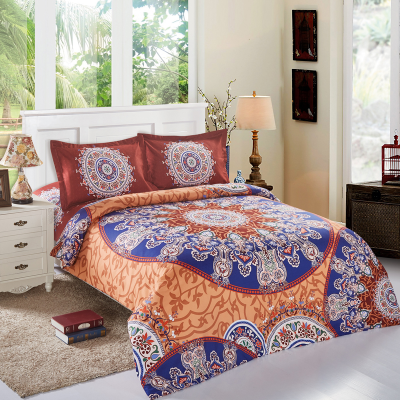 european mandala bohemian style queen size 4pcs duvet cover sets bedding set 100 polyester - Queen Size Duvet Cover