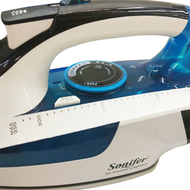 2400W High quality laundry home appliances Electric Steam Iron For Clothes Adjustable Ceramic soleplate iron for ironing Sonifer 4