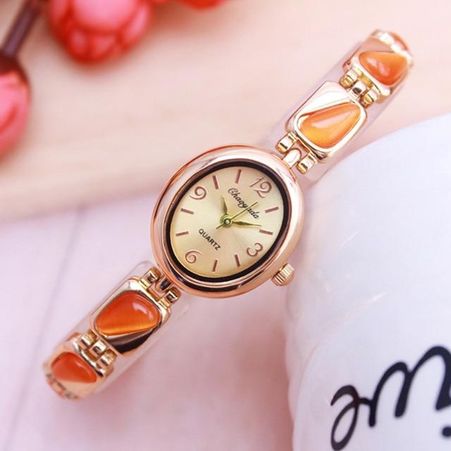 2018 cyd new seller women fashion luxury watches oval quartz ladies dress rose g