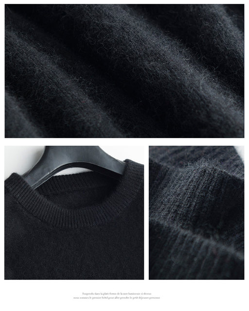 Sales Promotion Winter New Brand Men's High O Neck 100 Mink Cashmere Sweater Half Turtleneck Pullover man christmas masculina 37