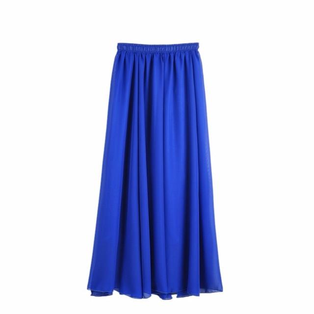 Aliexpress.com : Buy Spring Summer Women Chiffon Long Skirts Candy ...