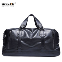Men's Travel Duffle Bag High Quality PU Leather Handbag Round Bucket Handle Bag Shoulder Crossbody Bag sac de voyage New XA97WC