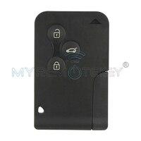 スマートキーカード3ボタン433 mhz pcf7947でキーを挿入プラグでスタート車ルノーメガーヌ用インテリジェントカードremtekey