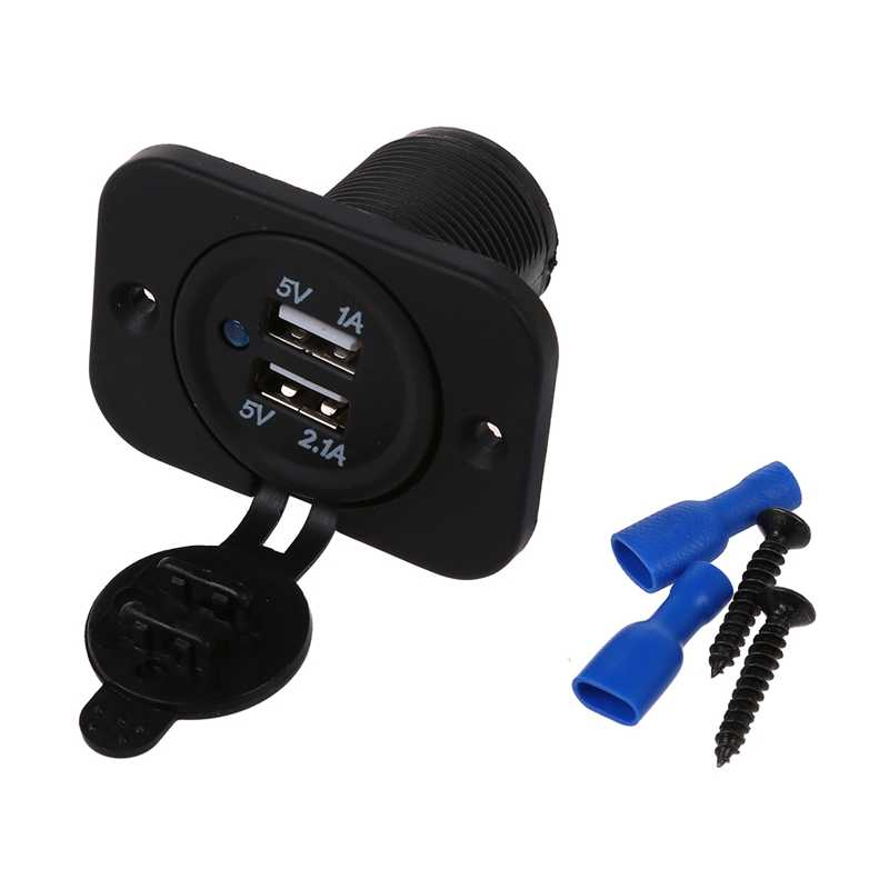 Adapter socket 2 USB Ports Car Charger for 12V Car Auto