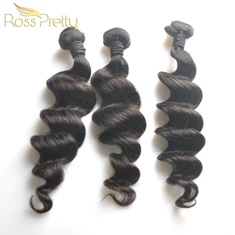 Ross Pretty Popular 3bundles Vietnamese Remy Hair Loose Deep Human Hair Weave For Mini Hair Extension Easy for a Head and Wig