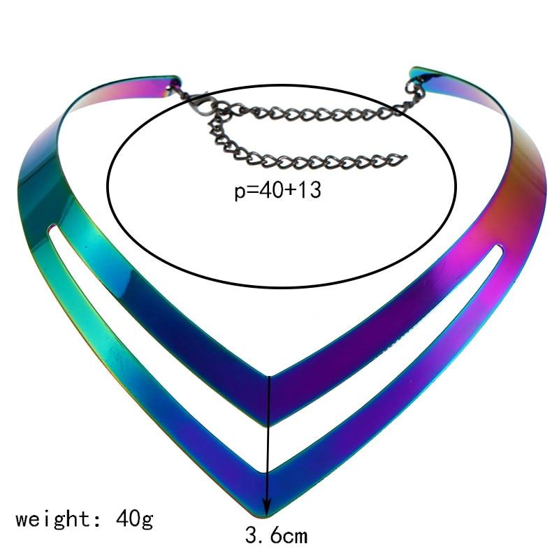 LZHLQ Geometrische holle metalen draaimomenten Dames trendy - Mode-sieraden - Foto 6