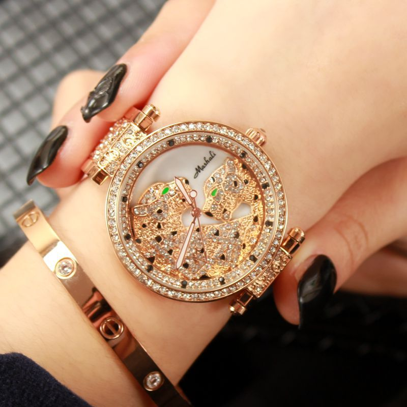 2016 Famous Brand Luxury Crystal Leopard Women Watch Lady Leopard Charm Dress Watch Rhinestone Bangle Bracelet Free Shipping new arrival bs brand quartz rectangle bracelet women luxury crystals bracelet watch lady rhinestone watch charm bangle bracelet