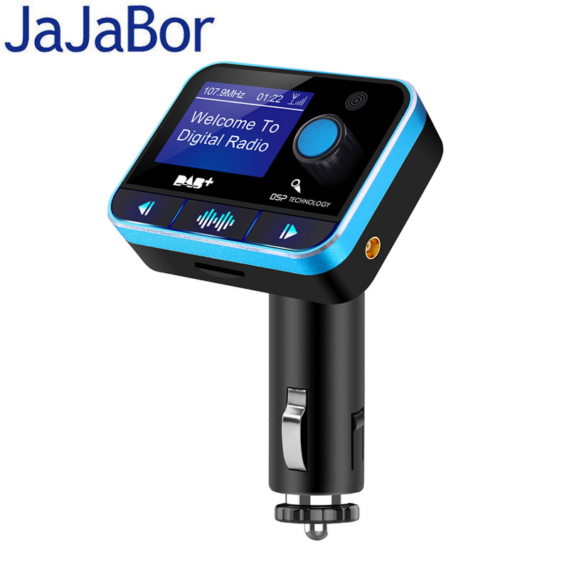 JaJaBor Car Radio Receiver Auto DAB FM Transmitter Digital Audio Broadcasting Bluetooth Handsfree Car MP3 Player LCD Display fdomain car dab plus digital radio receiver adapter fm transmitter with bluetooth handsfree