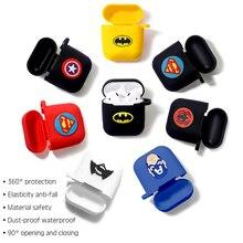 Marvel Draadloze Bluetooth Oortelefoon Case Voor Apple AirPods Opladen Hoofdtelefoon Bescherming Gevallen Cover Opladen Doos Accessoires