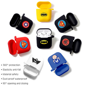 Image 1 - Marvel Wireless Bluetooth Earphone Case For Apple AirPods Charging Headphones Protection Cases Cover Charging Box Accessories