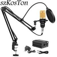 szKosTon Karaoke Microphone Kits bm 800 Studio Microphone BM 800 Mic Kit Condenser Microphone Bundle Microphone for Computer