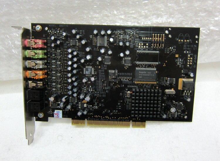 Original démonter, pour Creative x-fi Xtreme musique SB0770 7.1 carte son fiber carte son, 100% bon fonctionnement