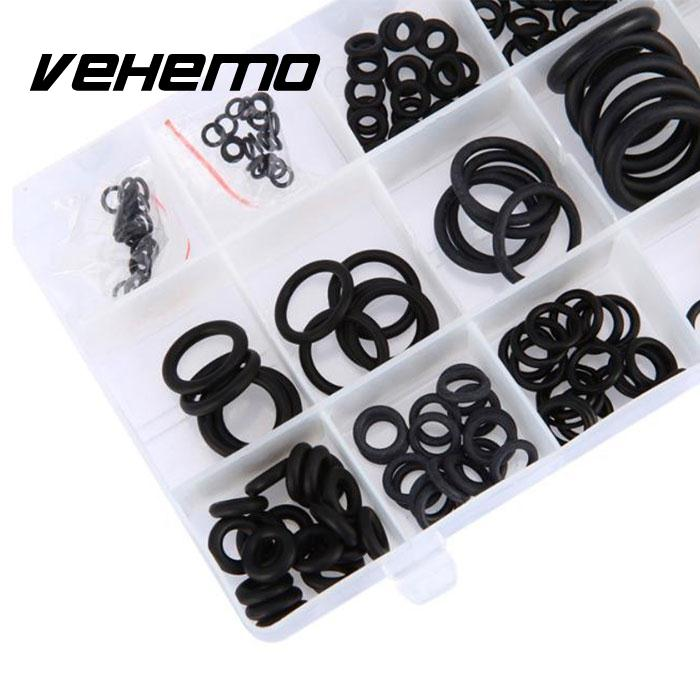 Vehemo 2016 Hot 225Pcs 18 Sizes Vehicle Rubber O-Ring Washer Seals Assortment Set Black Car styling image