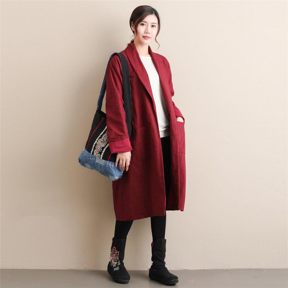Chinois Pure Windcoat Nouveau Coupe Longues Style Automne Couleur Trench D659 Manches Femmes vent 2018 Rétro BgXxEv