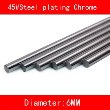 2pcs 45#Steel plating Chrome linear shaft diameter 6mm length 100mm-500mm 3d printer part cnc linear rail shaft 1pc linear shaft optical axis bearing steel outer diameter 8mm x length 300mm for cnc parts