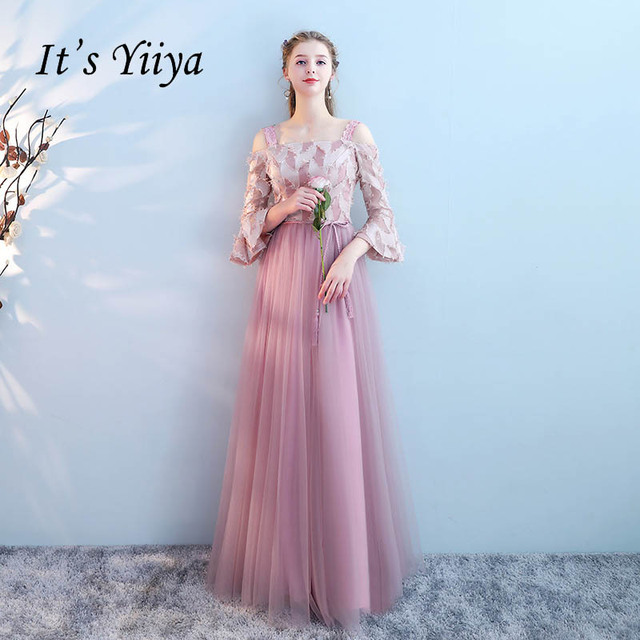 1a79a5cf53 It s Yiiya Many Design Draped Flower Lace Up Elegant Evening Dresses Floor  Length Party Gown Evening Gowns Formal Dresses LX196-in Evening Dresses  from ...