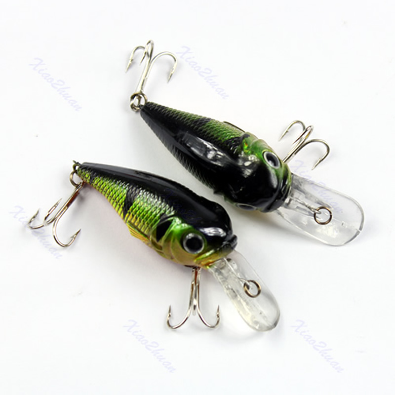 Sinking Fishing Lures Minnow Crank Bait Crankbait Tackle Treble Hook 5g 50mm 1pc