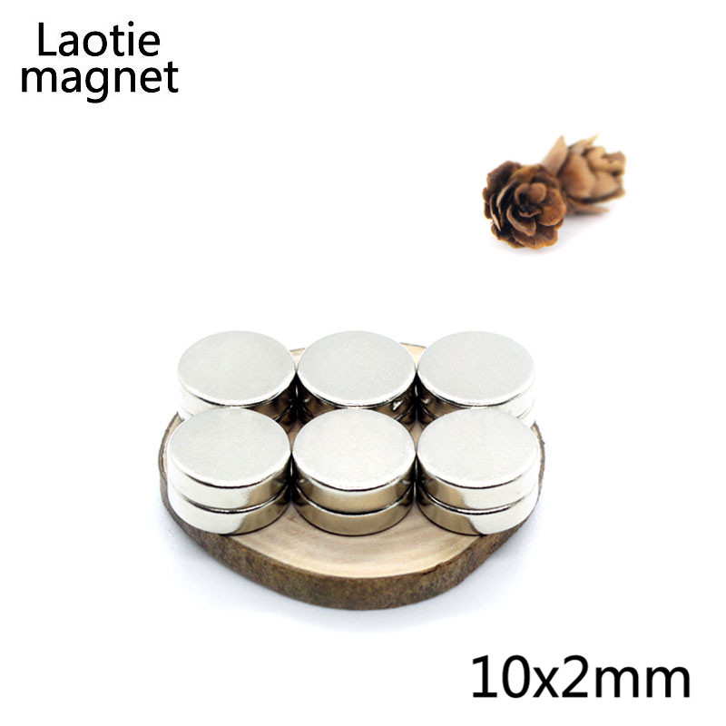 50Pcs 10 x 2 mm small round Magnetic magnet Strong neodymium magnet 10x 2mm Powerful Rare Earth N35 NdFeB Magnets 10mmx2mm new 50pcs strong ndfeb magnet neodymium magnets disc cylinder rare earth fridge 3x10mm n35 favorable price