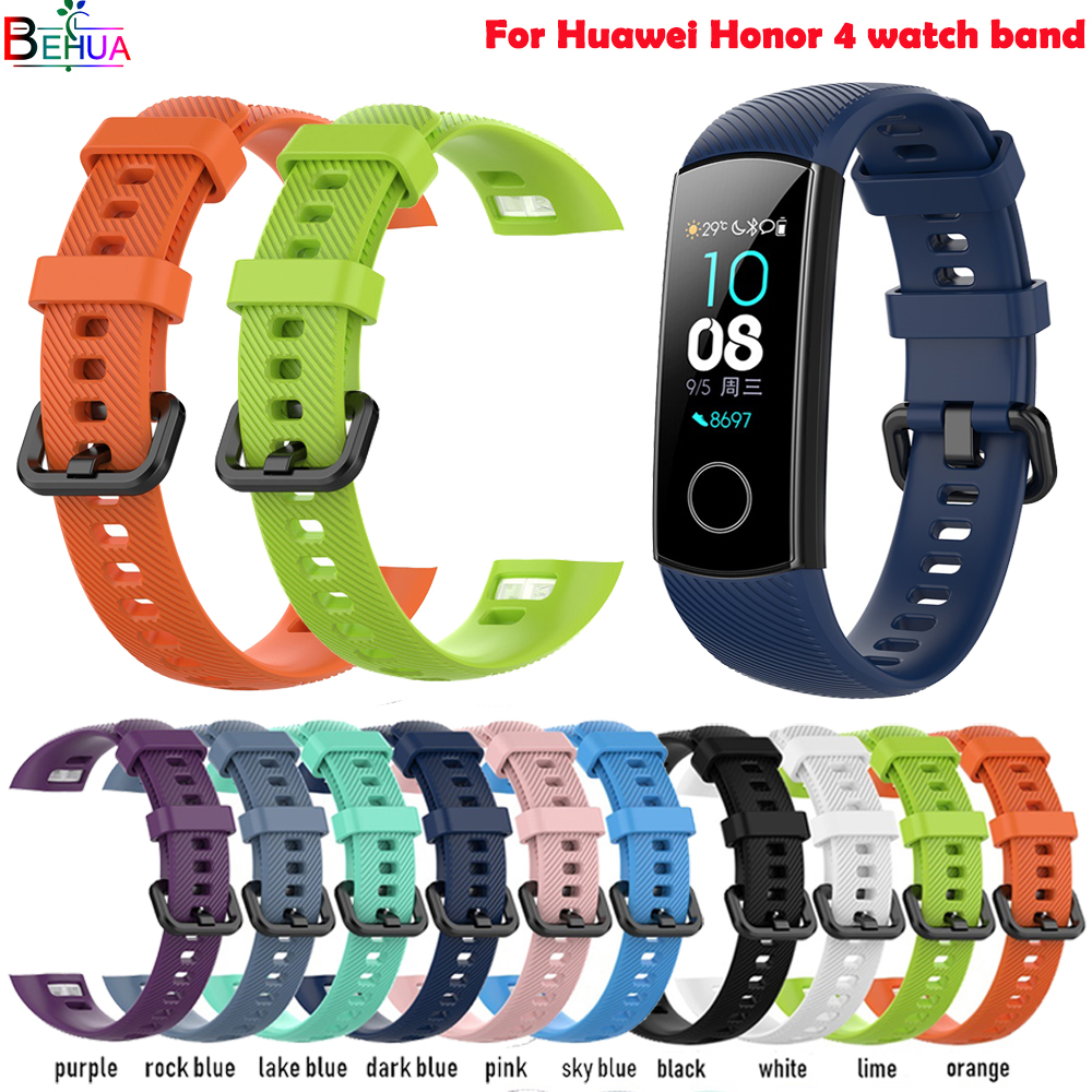 silicone sport strap watch band For Huawei Honor 4 smart watch Pedometer Replacement sports Fitness Bracelet strap Accessories