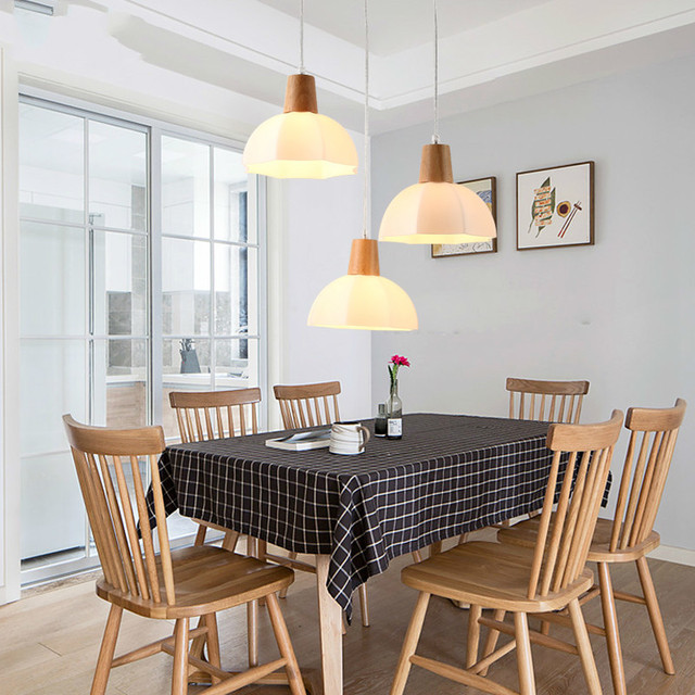 Us 69 99 Wooden Scandinavian Restaurant Led Chandelier Three Head Dining Room Bar Solid Wood Lamps Simple Modern Ideas Lu8141613 In Pendant Lights